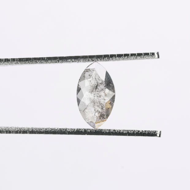 0.91ct Salt & Pepper Rose Cut Marquise Diamond