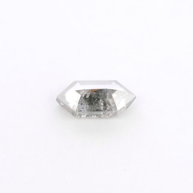 .92 Carat Salt & Pepper Hexagon Rose Cut Diamond