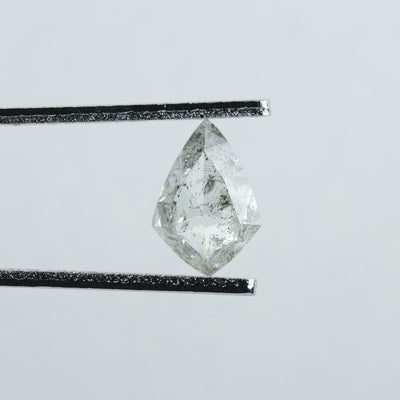 0.98 Carat Translucent Salt & Pepper Kite Diamond