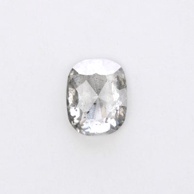 0.98ct Translucent Salt & Pepper Oval Rose Cut Diamond