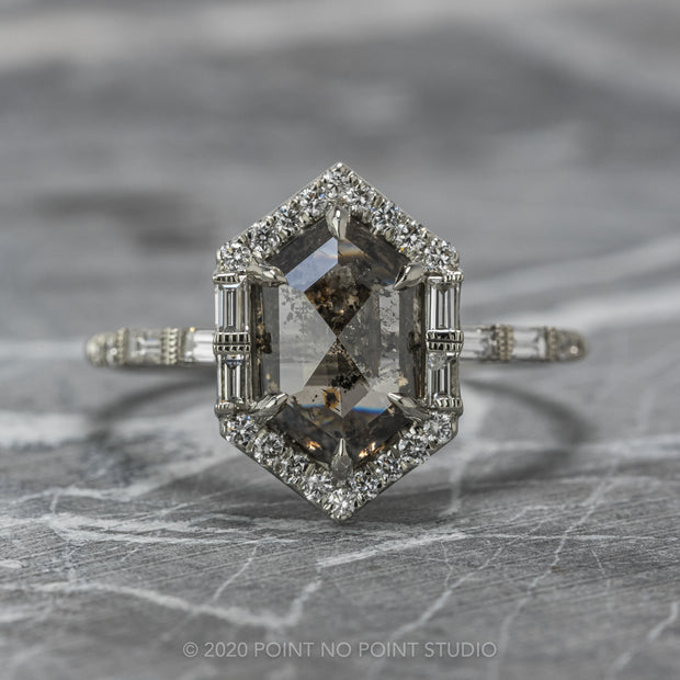 Ivy Halo Engagement Ring
