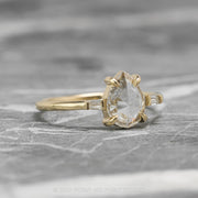 .93 Carat Clear Pear Diamond Engagement Ring, Zoe Setting, 14K Yellow Gold