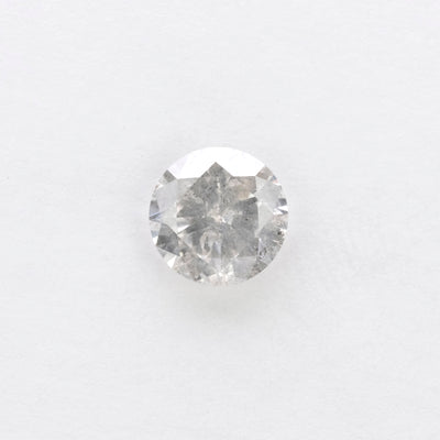 1.01ct Salt & Pepper Round Brilliant Cut Diamond