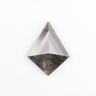 1.09 Carat Salt & Pepper Geometric Rose Cut Diamond