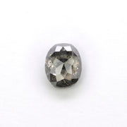 1.14 Carat Black Speckled Rose Cut Diamond