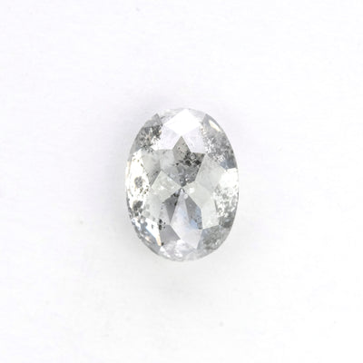 1.15 Carat Salt & Pepper Rose Cut Oval Diamond