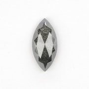 1.17 Carat Black Speckled Rose Cut Diamond