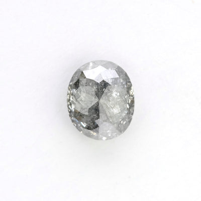 1.22 Carat Salt & Pepper Rose Cut Oval Diamond