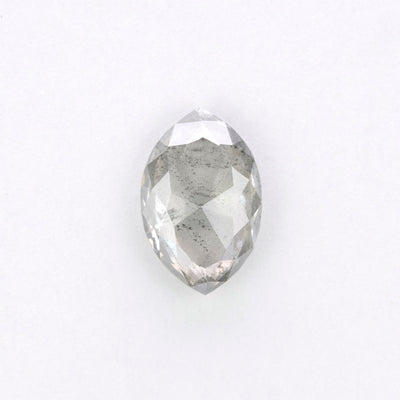 1.22ct Grey Speckled Marquise Rose Cut Diamond
