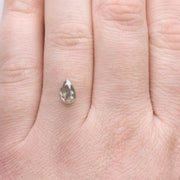 1.23ct Salt & Pepper Pear Rose Cut Diamond
