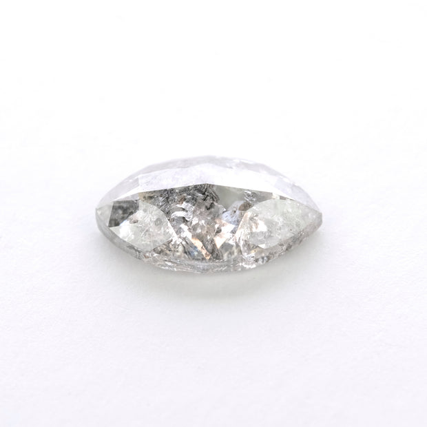 1.23ct Salt & Pepper Marquise Rose Cut Diamond