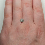 1.27ct Salt & Pepper Brilliant Cut Round Diamond