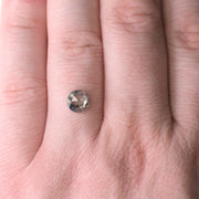 1.30 Carat Salt & Pepper Rose Cut Diamond