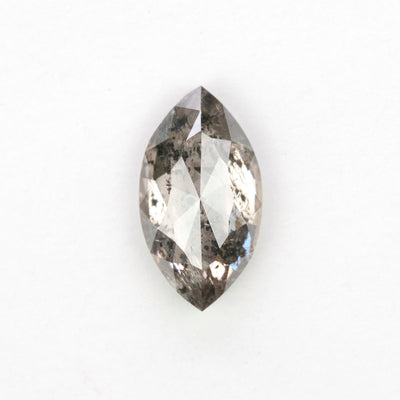 1.33 Carat Salt & Pepper Rose Cut Diamond