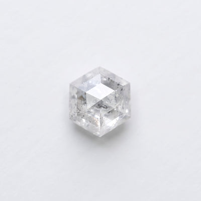 1.33ct Icy White Hexagon Rose Cut Diamond