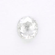 1.33ct Translucent Salt & Pepper Oval Rose Cut Diamond
