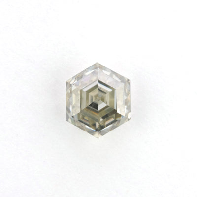 1.35 Carat Rose Cut Clear Hexagon Moissanite