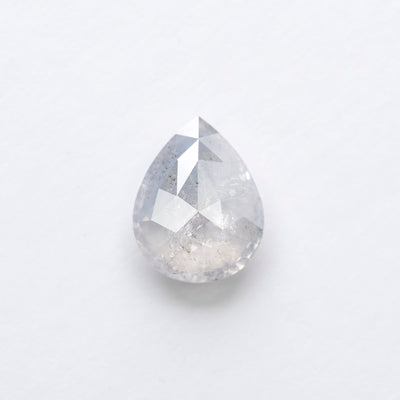 1.41ct Icy White Pear Rose Cut Diamond