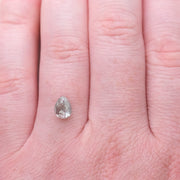 1.43ct Translucent Pear Rose Cut Diamond