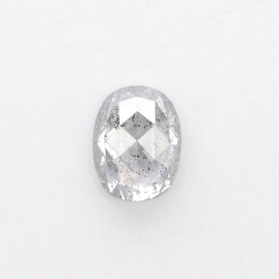 1.43ct Translucent Salt & Pepper Oval Rose Cur Diamond