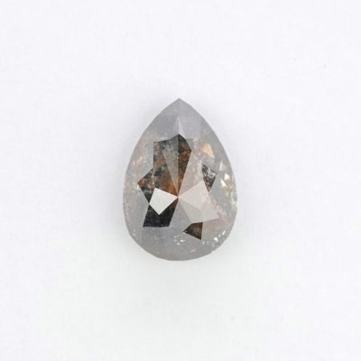 1.44 Carat Black Speckled Pear Brilliant Cut Diamond