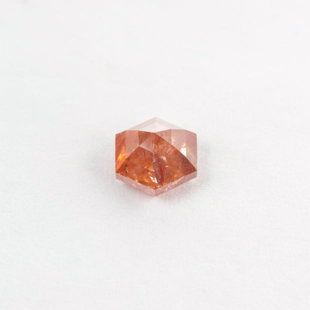1.46ct Black Speckled Hexagon Rose Cut Diamond
