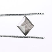 1.48ct Speckled Smokey Grey Rose Cut Lozenge Diamond
