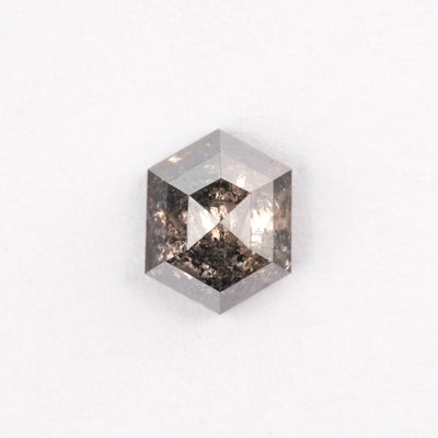 1.51 Carat Salt & Pepper Brilliant Cut Diamond