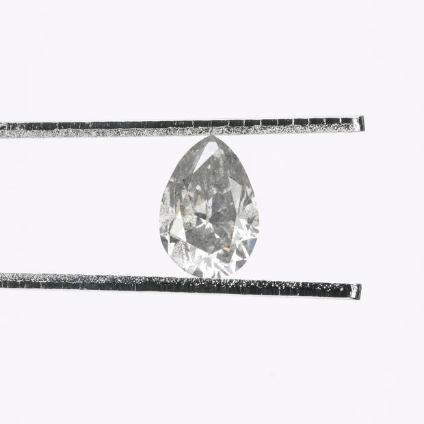 1.53ct Salt & Pepper Pear Brilliant Cut Diamond
