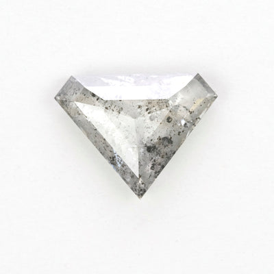 1.61 Carat Salt & Pepper Rose Cut Diamond
