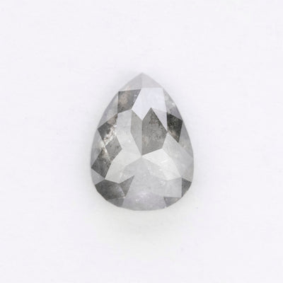 1.67 Carat Salt & Pepper Rose Cut Diamond