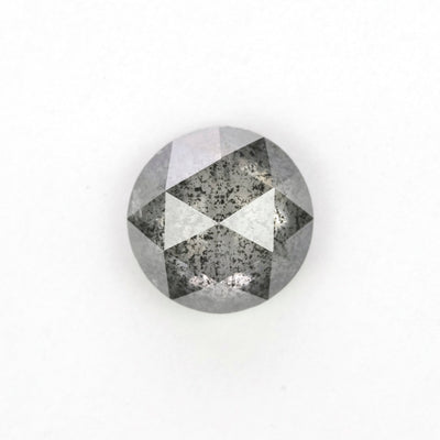 1.69 Carat Black Speckled Rose Cut Diamond