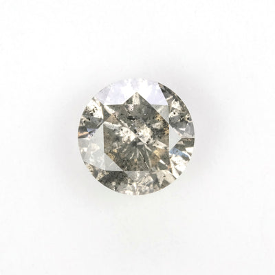 1.69 Carat Salt & Pepper Rose Cut Diamond