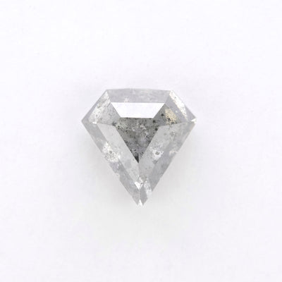 1.74ct Salt & Pepper shield Rose Cut Diamond