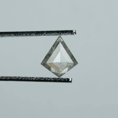 1.21 Carat Salt & Pepper Kite Diamond