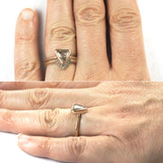 14k Rose Gold Diamond Chevron Band No. 01 - Point No Point Studio - 5