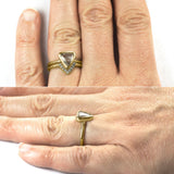 14k Yellow Gold Diamond Chevron Band No. 01 - Point No Point Studio - 5