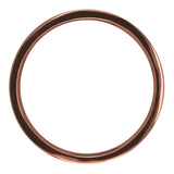 2mm Wide x 1.5mm Thick,14k Rose Gold Rectagle Wedding Band, Polished - Point No Point Studio - 3