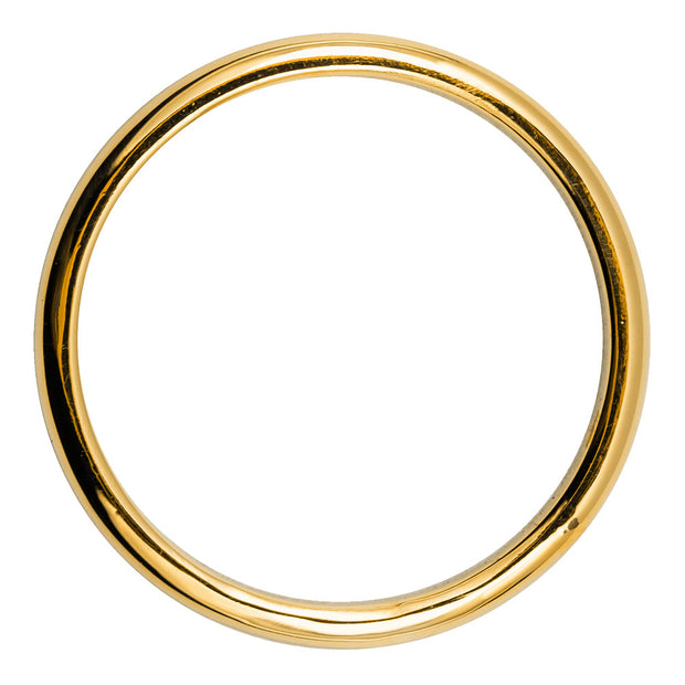 2mm Wide x 1.5mm Thick, 14k Yellow Gold Half Round Wedding Band, Polished - Point No Point Studio - 3