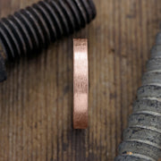 4mm 14k Rose Gold Mens Wedding Ring, Brushed Matte - Point No Point Studio - 2