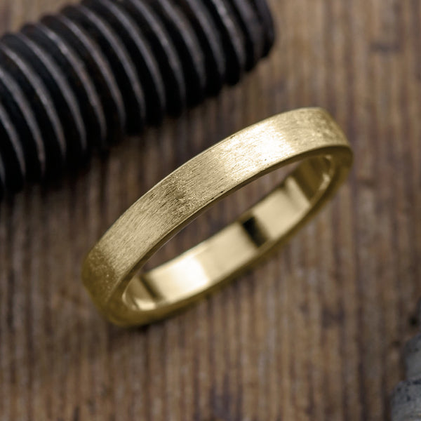 Matte Brushed Wedding Ring