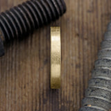 4mm 14k Yellow Gold Mens Wedding Ring, Matte Brushed - Point No Point Studio - 2