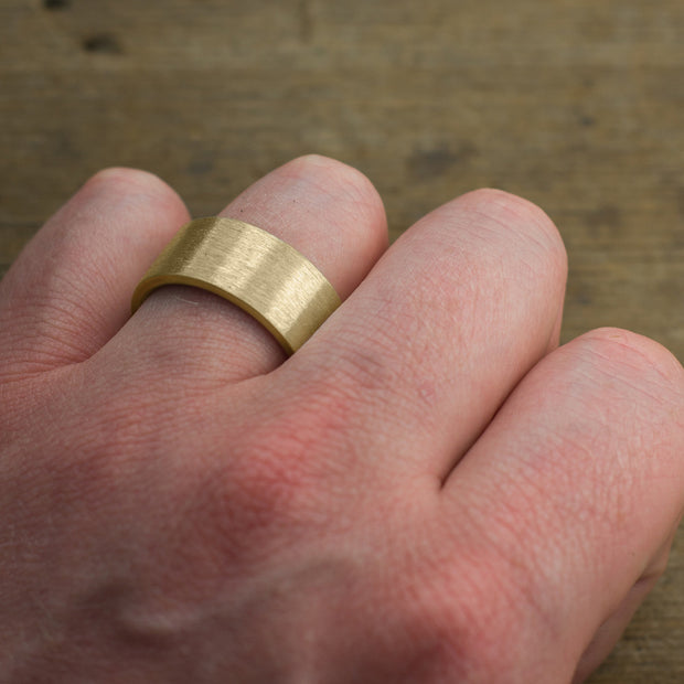 Matte Brushed Men's Ring