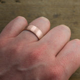 8mm 14k Rose Gold Mens Wedding Band, Half Round Matte - Point No Point Studio - 4
