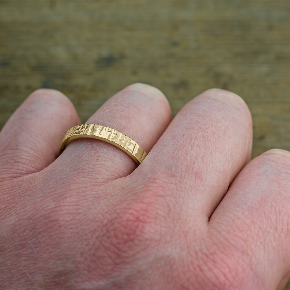 Textured, Polished 14k Yellow Gold