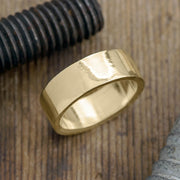 8mm 14k Yellow Gold Mens Wedding Ring, Polished - Point No Point Studio - 1