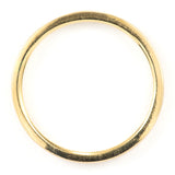 2mm Wide x 1.5mm Thick, 14k Yellow Gold Rectangle Wedding Band, Matte - Point No Point Studio - 3