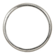 2mm Wide x 1.5 mm Thick, 14k White Gold Half Round Wedding Band, Matte - Point No Point Studio - 3