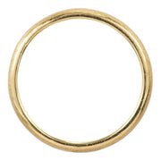 2mm Wide x 1.5mm Thick, 14k Yellow Gold Half Round Wedding Band, Matte - Point No Point Studio - 3