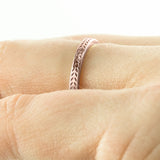 Eco Friendly Chevron Wedding Band, 14K Rose Gold - Point No Point Studio - 4